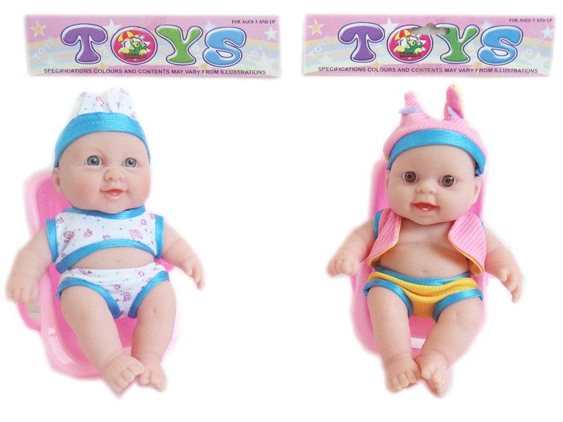 vinyl doll toy 7.5 inch baby doll funny toy