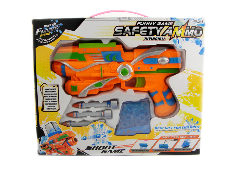 Gun toy plastic war gun shoot game toy