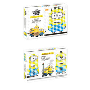Minions bean puzzle color bean toy educational toy
