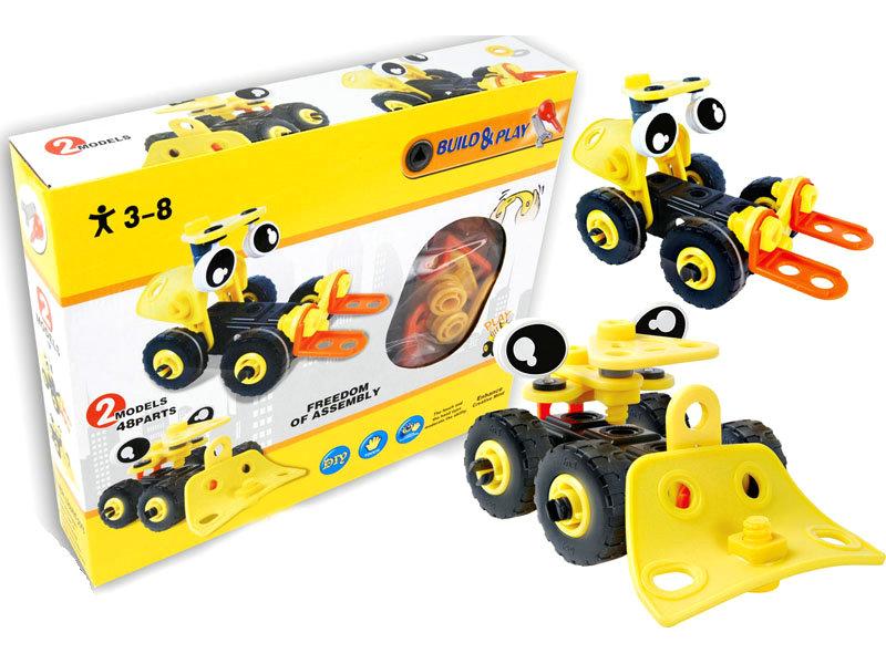 DIY car toy building block car cartoon toy