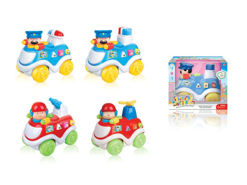B/O car toy police dancing car funny toy