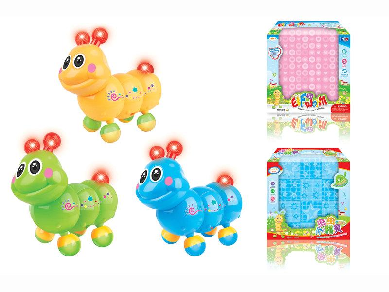 B/O animal toy cartoon worm funny toy