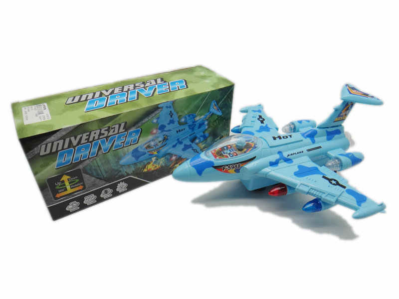 blue plane toy vehicle toy battery option toy