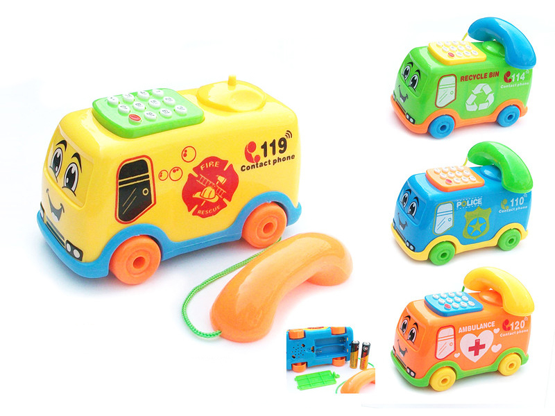 musical bus toy telephong toy cartoon toy