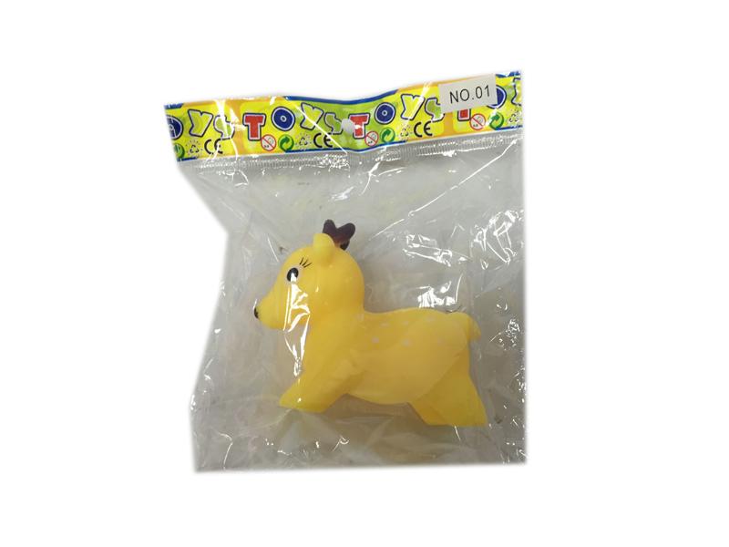 vinyl sika deer animal toy bath toy
