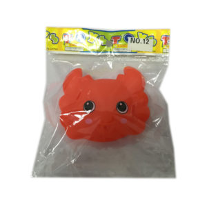 vinyl crab toy bathing toy animal toy