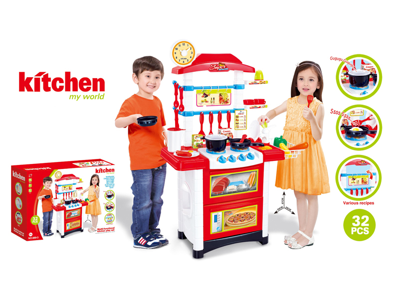 Kitchen counter toy lighting toy plastic toy