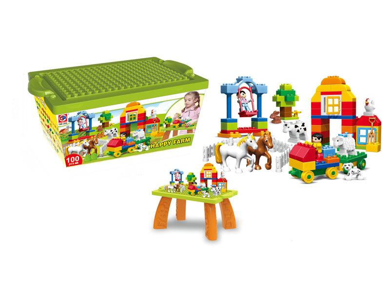 happy farm blocks cute toys DIY toy
