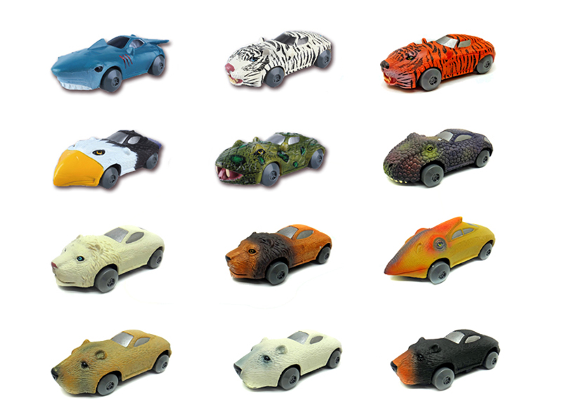 animal sports car friction powered toy animal roadster