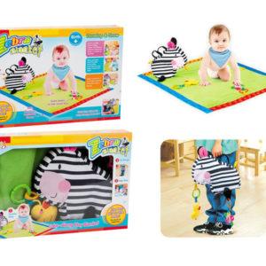 Zebra blanket crawling blanket baby toy