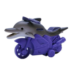 plastic dolphin toy friction powered animal motorcycle