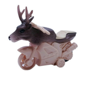 cute animal toy novelty animal stunt motorcycle