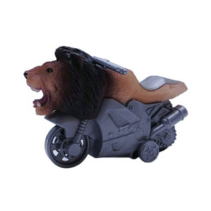 motorcycle toy plastuc animal  friciton lion