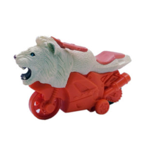 friction powered toy animal motorcycle white lion toys