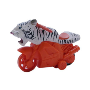 plastic tiger friction toy animal motorcycle