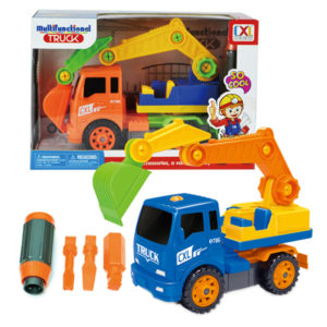 take apart excavator assemble truck toy construction vehicle
