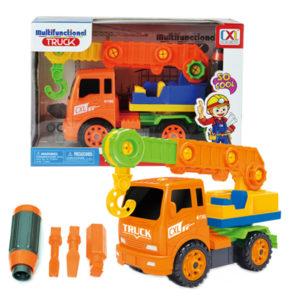 take a part crane assemble truck toy construction vehicle