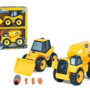 truck tools toy construction bulldozer with screw and drill