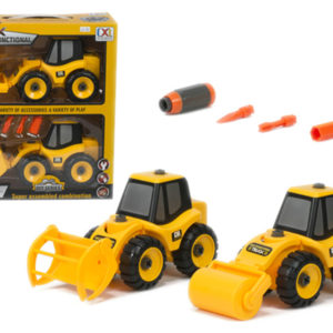 truck toy assembly construction vehicle with screw and drill