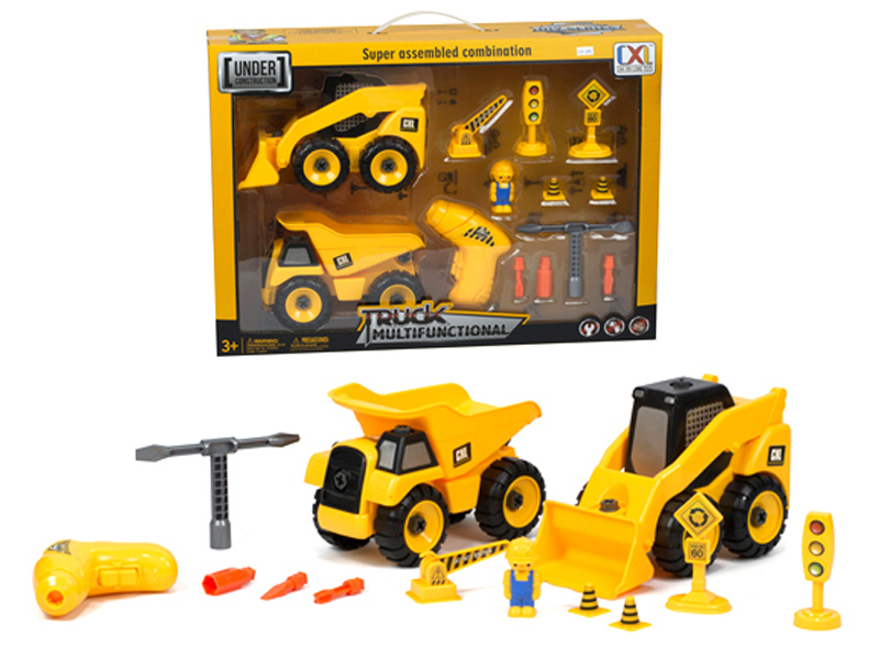 Construction Play Toys : Construction play set assembly truck toy take a part vehicle