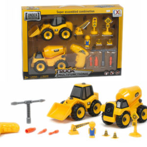 construction truck set assembly truck toy  take a part vehicle