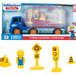 construction truck set toy assembly kit with tools and screw