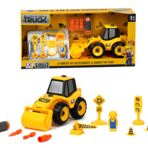 assembly road roller construction truck take a part toys
