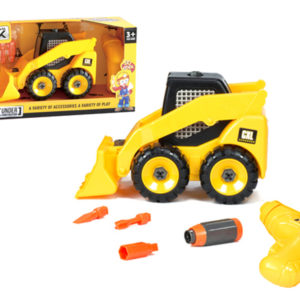 assembly truck construction toy with electric drill