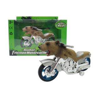Grizzly bear motorcycle toy friction motorcycle animal machine
