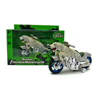 Cheetah motorcycle toy friction motorcycle animal machine