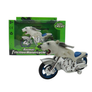 Polar bear motorcycle toy friction motorcycle animal machine